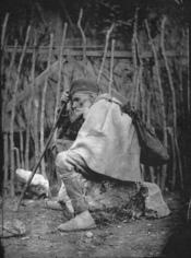 English: The Beggar, by Pjetër Marubi (Piacenza, 1834 - Shkodra, 1903). Nineteenth century, Shkodra.