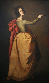 English: Saint Ursula, Francisco de Zurbaran, 1650. Oil on canvas. Bought in 1893. Accession number: 287