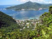 English: Pago Pago Harbor, Tutuila Island, American Samoa.