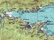 An enlargeable topographic map of Pago Pago Harbor on Tutuila in American Samoa