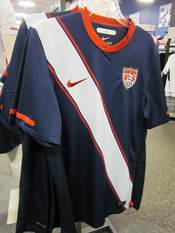 A Nike USA men's national soccer team away jersey.