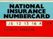 The National Insurance numbercard issued by the former Department of Health and Social Security to Zacarias Moussaoui