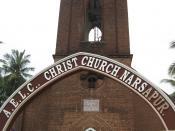 English: Christ Lutheran Church, Narsapur, built 1929.