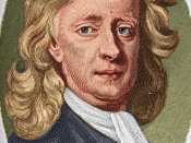 Colorized engraving after Enoch Seeman's 1726 portrait of Newton