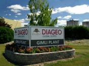 English: Diageo global Crown Royal supply plant, Gimli, Manitoba, Canada