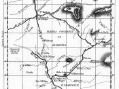 Map of the Cassiquiare canal based on Alexander von Humboldt, 1799 observations.