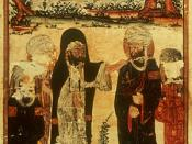 The Investiture of Ali at Ghadir Khumm, Edinburgh University Library MS Arab 161, A.H. 707 / A.D. 1307–8, illustrating Al-Biruni's Chronology of Ancient Nations