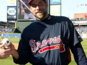 English: Cropped version of photo of Atlanta Braves pitcher John Smoltz (originally pictured with Colonel Nuckolls, commander of the Air Force Reserve's 94th Airlift Wing at Dobbins Air Reserve Base, GA)
