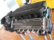 English: Lamborghini's V12 F1 engine