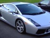 English: A silver Lamborghini Gallardo Deutsch: Ein Silberner Lamborghini Gallardo