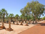 Headstones in the Japanese of Broome, Western Australia