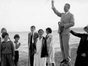 Thomas Mann mit Familie in Nidden