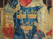 English: King Arthur as one of the Nine Worthies, detail from the