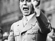 Dr. Joseph Goebbels, head of Germany's Ministry of Public Enlightenment and Propaganda. His masterful use of propaganda for Adolf Hitler and the NSDAP made him a prototype of the modern spin doctor in public conscience.