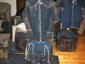 English: Full set of Japanese(samurai)Edo period 1800s chain mail(kusari) armor.