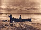 Evening on Puget Sound by Edward S. Curtis, 1913.