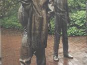 Русский: Дискуссия.Уличная сцена Deutsch: Karl-Henning Seemann, Skulptur