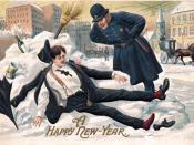 English: Postcard picture for New Year's; eBay store Web page shows opposite side of card, with