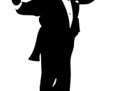A conductor silhouette