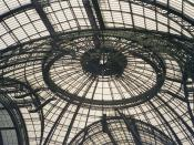 The glass roof of the Grand Palais, Paris.