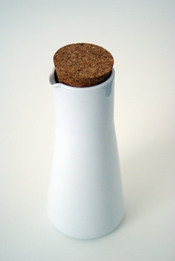 An IKEA jug with a cork stopper.
