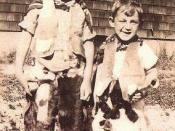 English: Robert (left) and Harvey (right) Milk in 1934