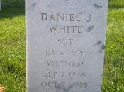The headstone of Dan White, assassin of San Francisco mayor George Moscone and Supervisor Harvey Milk, in section 2C of Golden Gate National Cemetery in San Bruno, California.