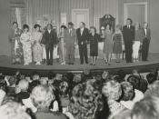 Molly Picon (center right) on tour in A Majority of One, 1964-1965
