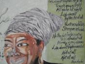 Maya Angelou graffiti and Life Doesn't Frighten Me poem