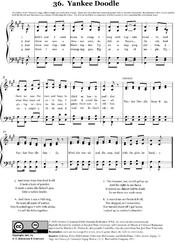 Deutsch: Notenblatt zu Yankee Doodle.