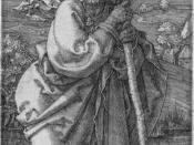 St. Christopher, engraving, 1521, by Albrecht Dürer