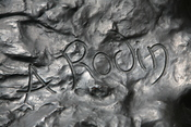 Signature of Auguste Rodin (1840-1917) on The Thinker.