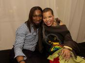 Marco Hall and Ntozake Shange