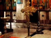 English: The inside of an Orthodox church. Greek Orthodox Church.