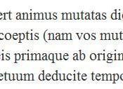 First verses of Ovid's Metamorphoses