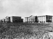 English: Early image of Texas Christian University Fort Worth campus.