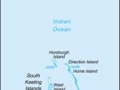 Русский: Карта Кокосовых (Килинг) островов