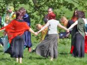 A handfasting ceremony at Avebury in England, which occurred during Beltane in 2005