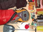 Gear for lightweight snow camping