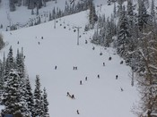 snowbird ski resort view from tramcar