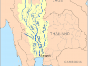 This is a map of the Chao Phraya River drainage basin.