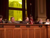 English: The penultimate Minneapolis City Council meeting of the session and the year 2005.