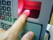 English: Fingerprint scanner identification on a Government building in Brazil. Português do Brasil: Identificação de impressão digital num prédio do Governo no Brasil.