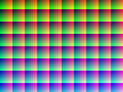 This image (when viewed in full size, 1000 pixels wide) contains 1 million pixels, each of a different color. The human eye can distinguish about 10 million different colors. Judd, Deane B. Wyszecki, Günter (1975). Color in Business, Science and Industry