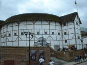 English: The Globe Theatre. The Globe Theatre, Southwark. This is a reconstruction of the Globe Theatre, made famous by Shakespeare.