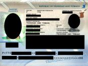 English: Trinidad and Tobago passport information page
