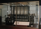 English: A photo of the Difference Engine constructed by the Science Museum based on the plans for Charles Babbage's Difference Engine No. 2