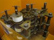 Part of Charles Babbage's Difference Engine including the addition and carry mechanisms