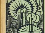 The cover of the first edition of Kreyborg's Mushrooms (1916): a book of free verse tone-poems