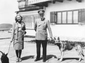 Obersalzberg- Adolf Hitler and Eva Braun with dogs (German_Shepherd_Dog